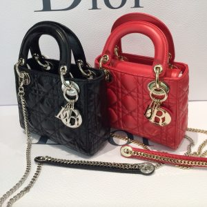 dior-blackred-lady-dior-with-chain-mini-bags