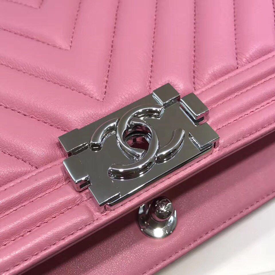 Túi Chanel LeBoy Chevron màu hồng
