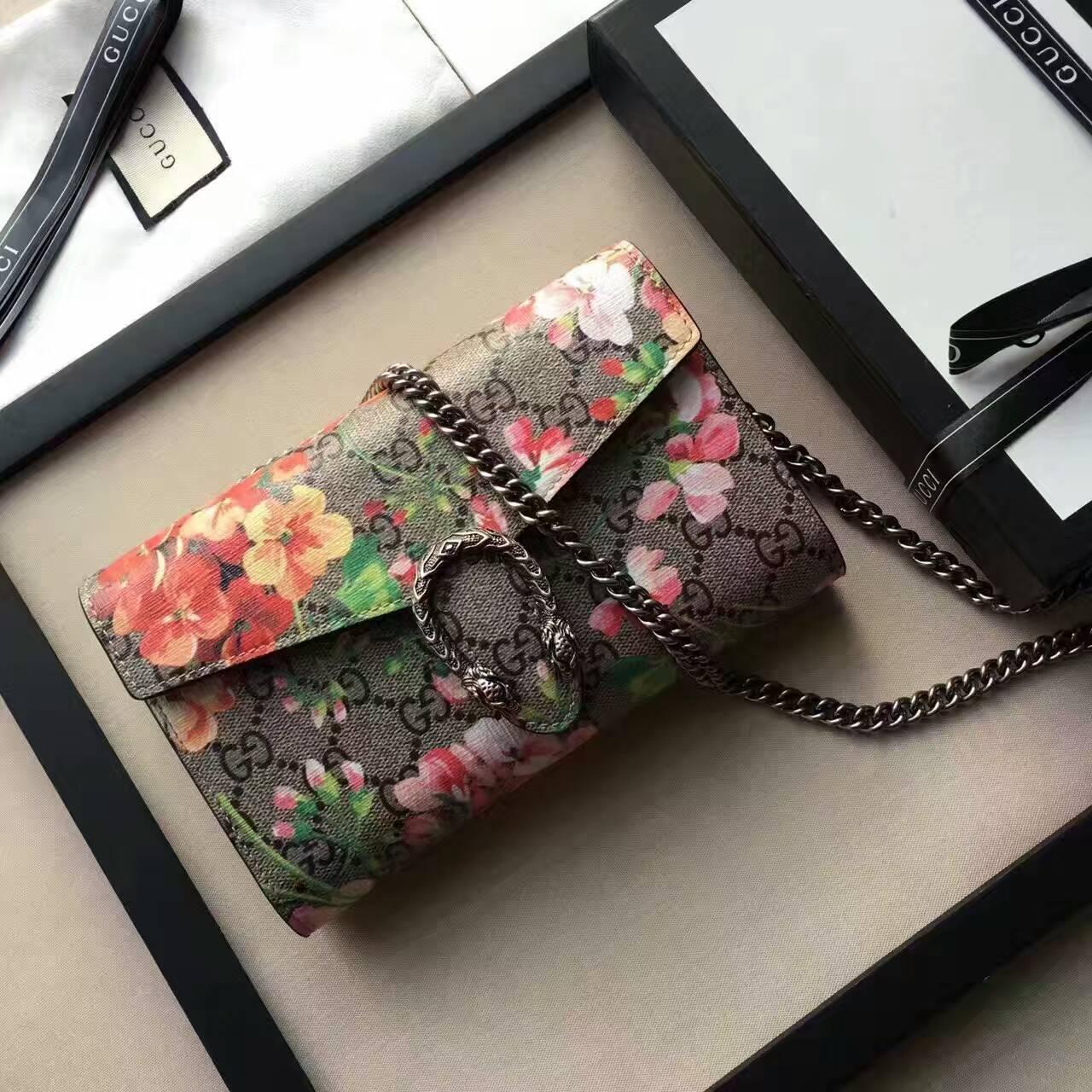 94c9676d67f1 Gucci Dionysus Blooms Print Mini Chain Bag 401231 | Stanford Center ...