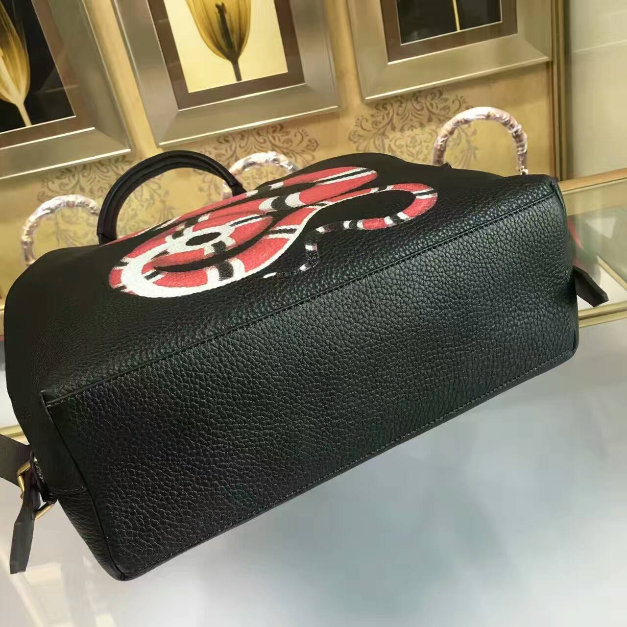 c4770b48d56b Gucci Snake print leather backpack-451000-3